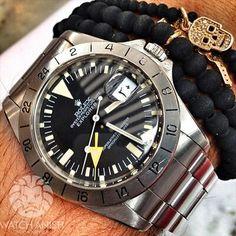 Rolex Black Dial Explorer Wrist Watch #explorer
