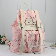 Fashion Colourful Style Winnie The Pooh Wave Point School Bag Campus Backpack   eBay