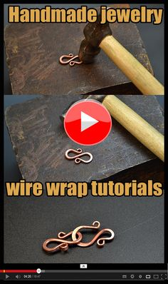 Copper Wire Jewelry, Wire Wrapped Jewelry, Handmade Jewelry, Diy Jewellery, Jewlery, Jewelry Design, Wire Tutorials, Minerals And Gemstones, Wire Weaving