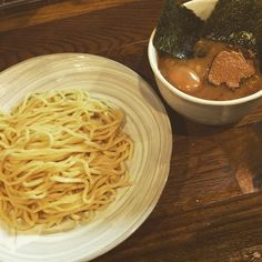Dip the noodles into the broth! #tsukemen #ramen #tokyo #japan by momoisme