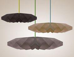 Origami inspired paper lighting
