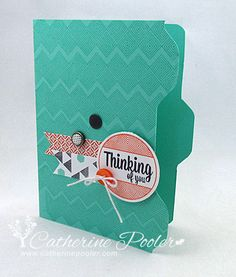 Envelope Punch Board File Folder Tutorial  http://catherinepooler.com/2013/09/envelope-punch-board-file-folder-video-tutorial/  #stampinup  #averyelle