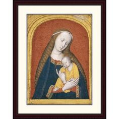 """Global Gallery 'The Virgin and Child' by Master of the Dijon Madonna Framed Painting Print Size: 38"""" H x 29.6"""" W x 1.5"""" D"""