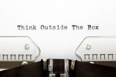 Typewriter THINK OUTSIDE THE BOX