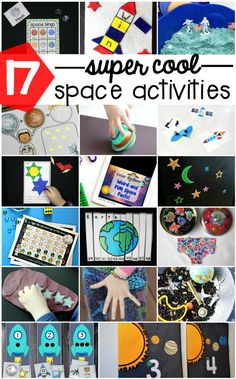 Awesome space activities for kids! Math games, sensory bins, Bingo, name activities. tons and tons of fun outer space ideas for preschool, kindergarten and first grade! Outer Space Activities for Kids Space Activities For Kids, Space Preschool, Preschool Activities, Kids Math, Preschool Kindergarten, Planets Preschool, April Preschool, Outer Space Theme, Outer Space Crafts