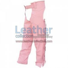 Ladies Pink Braided Leather Chaps for $150.35 - https://www.leathercollection.com/en-nz/ladies-pink-braided-leather-chaps.html