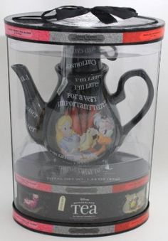 DISNEY PARKS EXCLUSIVE : Disney Wonderland Teapot + 20 Teabags/5 Flavors: Kitchen & Dining: Amazon.com -- maybe i'll get these