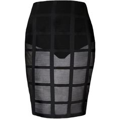 Plus Size Mesh Window Pane Pattern Skirt ($26) ❤ liked on Polyvore featuring skirts, womens plus size skirts, sheer skirt, knee length skirts, see-through skirts and sexy skirt