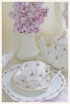 Tea Party ~ Pretty china  ~ afternoon tea by Ana Rosa