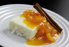 Manjar com calda de damasco, do restaurante Quattrino, que faz parte do menu para a SPRW (Foto: Divulgação)