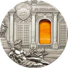 2009 Palau 2 oz $10 silver coin - Tiffany Art (Baroque).
