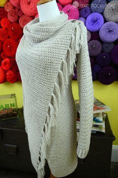 Blanket Cardigan crochet pattern for women sizes small - 3xl