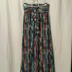 New listing! Beautiful Boho dress Stand out with the his floor length dress! Front tie, tube top. Like new, worn once! Xhilaration Dresses