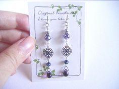 Dark violet earrings violet dangle earrings earrings under