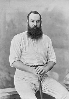 Same man, younger.  W. G. Grace from 'Famous Cricketers and Cricket Grounds', published by Hudson and Kearns, 1895