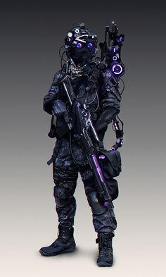 Ideas For Futuristic Concept Art Character Design Cyberpunk Cyberpunk Kunst, Mode Cyberpunk, Cyberpunk 2077, Cyberpunk Fashion, Character Design Cartoon, Fantasy Character Design, Character Art, Arte Ninja, Robot Concept Art