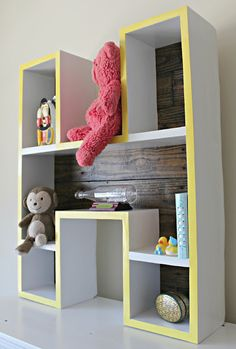 How to make a letter shelf tutorial for babies nursery!
