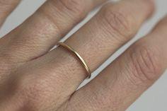 Gold Ring Gold Eheringe Gold Ehering einfachen von MinimalVS