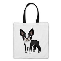 Cartoon Boston Terrier Canvas Bag on Zazzle. JOIN ALL ABOARD