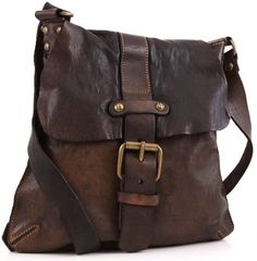 259 Euros Campomaggi Lavata Shoulder Bag Leather dark-brown 28 cm - C1369VL-1701 - Designer Bags Shop - wardow.com