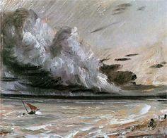 John Constable, British painter early 1800's. I can hear the thunder