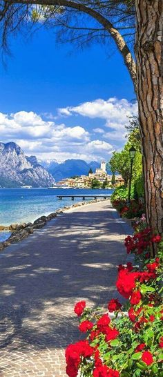 Amazing view of Lake Garda, Italy  #VisitingItaly