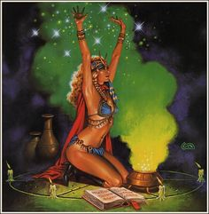 Sorceress by Clyde Caldwell