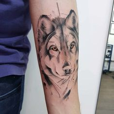 60 Amazing Wolf Tattoos - The Best You'll Ever See - Page 5 of 6 - Straight Blasted Tattoos Lobo, Wolf Tattoos, Tatoos, Geometric Wolf, Geometric Designs, Geometric Shapes, Watercolor Wolf, Watercolor Tattoo, Your Spirit Animal
