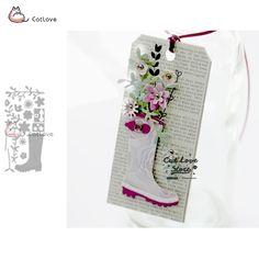 PANFELOU Easter Romantic words Scrapbooking DIY album cards paper die metal