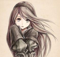 Anime girl drawing ♥_♥ Manga Anime, Manga Kawaii, Manga Girl, Anime Art Girl, Anime Girls, Kawaii Chibi, Beautiful Anime Girl, Anime Love, Real Anime