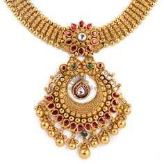 Gold Chain Design, Gold Ring Designs, Gold Earrings Designs, Gold Jewellery Design, Necklace Designs, Gold Jewelry, Necklace Online, Antique Necklace, Gold Necklace