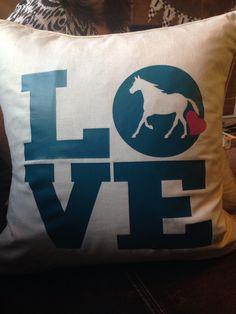 Horse pillow gift