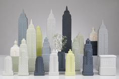 Metropolis vases, lamps and boxes by Lladro Atelier