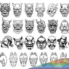 japanese tattoos galleryYou can find Japanese tattoos and more on our website. Oni Tattoo, Hanya Tattoo, Samurai Tattoo, Kitsune Mask, Oni Mask, Hannya Maske, Japanese Mask Tattoo, Samurai Artwork, Mask Drawing