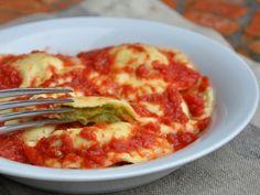 Gluten free ravioli with zucchini - Tortelli alle zucchine senza glutine
