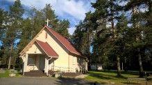 Vastamaalattu Kankaan kappeli elokuussa 2015..