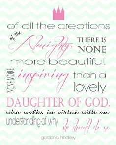 LDS Quote for young woman printable