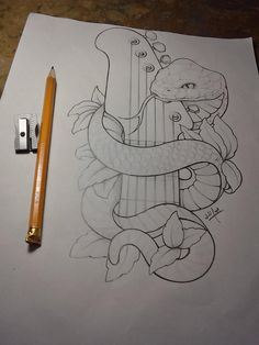 Snake and guitar