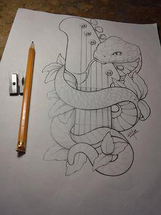 Snake and guitar