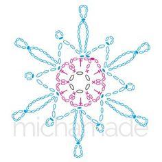 Best 10 Ela Klementowicz's media content and analytics – SkillOfKing.Com Crochet Instructions, Crochet Diagram, Crochet Motif, Crochet Doilies, Crochet Flowers, Crochet Angels, Crochet Stars, Thread Crochet, Crochet Stitches