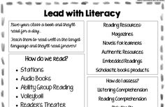 Lead with Literacy, presented by Carrie Toth and Kristy Placido Comprehensible Input, Central States, Reading Stations, Movie Talk, French Classroom, World Languages, Reading Resources, Teaching Spanish, Audio Books