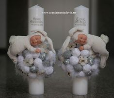 Baptism Candle, Baptism Decorations, Hobby, Penguin, Chanel, Easter, Baby Shower, Candles, Handmade