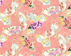 Empress Fluttering Fans Garnet/Gold by Studio 8 @ equilter