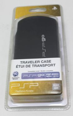 PSP Go Traveler Case Model PSP-N1000 Series Black New #Sony Psp, Sony, Games, Model, Black, Black People, Game, Pattern