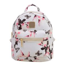 Ecoparty Teenage Girls Lady Travel Small Backpacks Mochila Feminina Floral Printing Women Leather Backpack School Bags