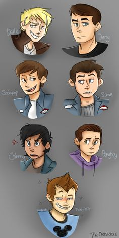 The Outsiders fanart- this is more like how I imagined them- especially Dally, Darry, Johnny, Pony, and Soda!