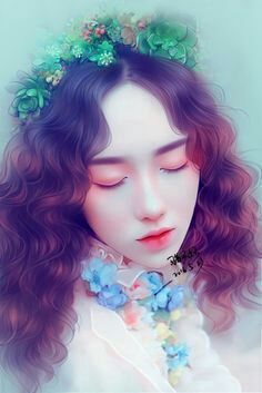 Korean Art, Asian Art, Pictures To Draw, Art Pictures, Digital Art Anime, Tumblr Art, Cute Cartoon Girl, Painting Of Girl, Moon Art