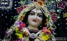 To view Radha Close Up Wallpaper of ISKCON Chowpatty in difference sizes visit - http://harekrishnawallpapers.com/srimati-radharani-close-up-wallpaper-020/