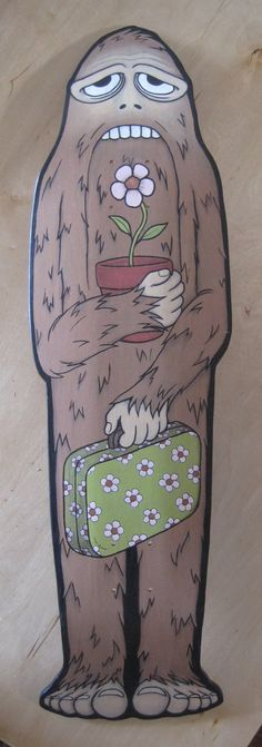 Bigfoot skateboard deck