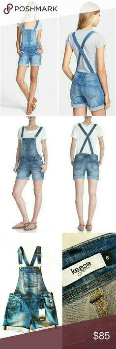 💲49✂Kensie Denim Jean Overall Shortall ⏩The perfect jean overall!  ⏩The comfort of overalls is reimagined as roll-cuff shorts for warmer weather & crafted of faded blue denim for a well-worn vibe ⏩Slide into this comfy overalls with a relaxed waist & leg ⏩Criss-cross back detail ⏩They fit so nicely. You'll feel comfortable and cute in them ⏩Side button closures, adjustable straps ⏩Five-pocket style (1 front, 2 back, 2 sides) ⏩It's highly well-made, so gorgeous! Kensie Pants Jumpsuits…